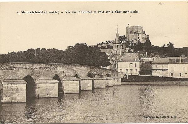forteresse de Montrichard avant 1940 pont à gauche
