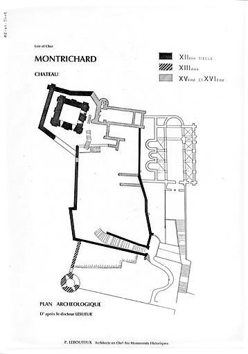 Plan donjon Montrichard