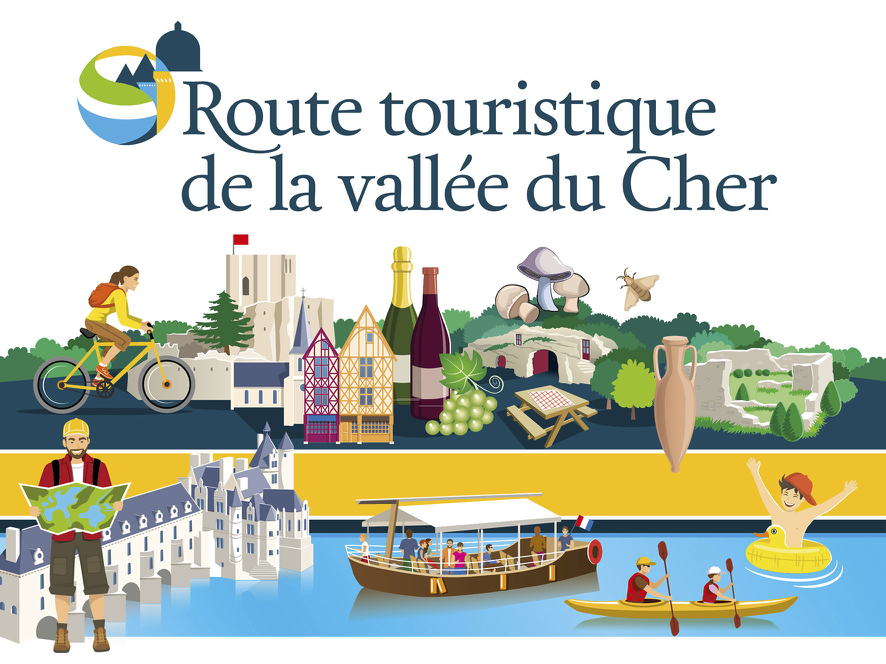 Visuel pour illustrer les éléments de la route touristique de la vallée du cher