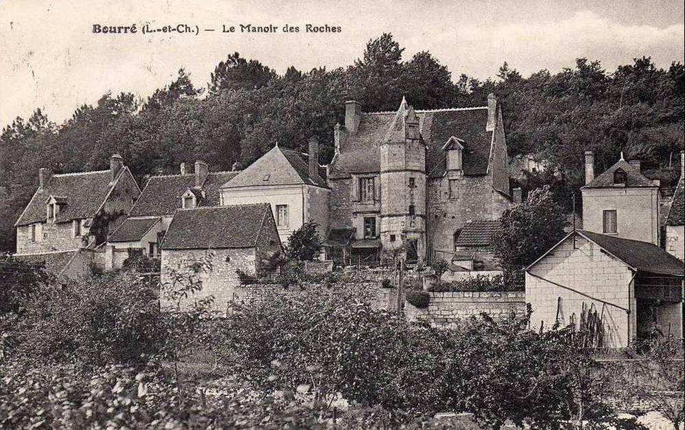Ancienne photographie du manoir des roches de Bourré