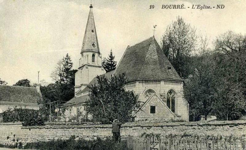 Ancienne photographie de l'église Saint-Germain de Bourré