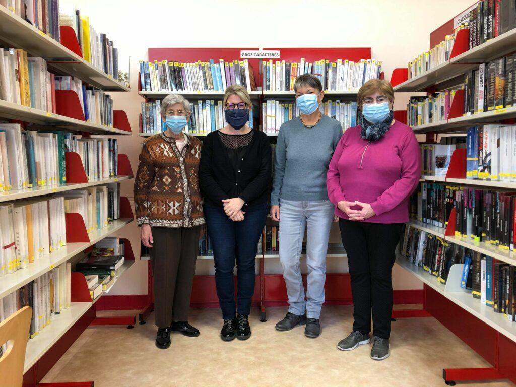 Bénévoles et adjointes à la bibliothèque de Montrichard Val de Cher