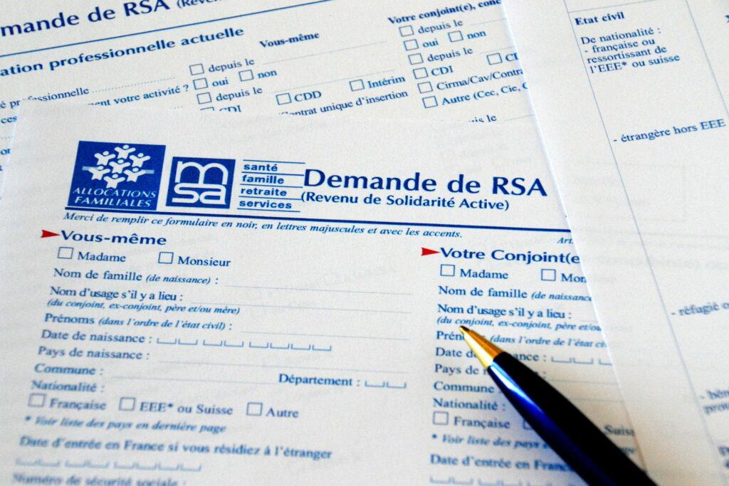 Papier de demande de RSA