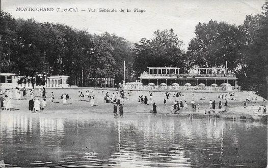 Plage de Montrichard durant les années 1930