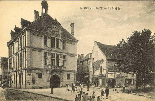 Ancienne photographie de la mairie de Montrichard