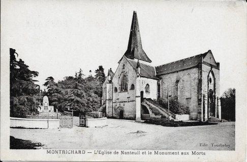 Photographie de l'église de Nanteuil de 1922