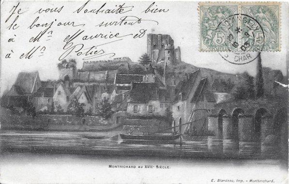 Ancienne carte postale de Montrichard