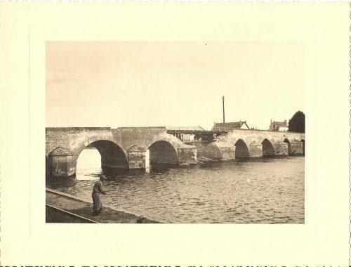 Ancienne photographie du pont de Montrichard