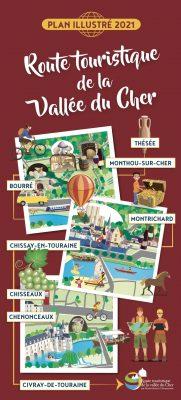 Page de couverture avec le plan de la route touristique