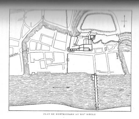 Plan de Montrichard au XIIe siècle