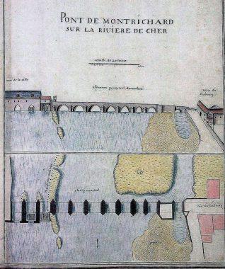 Pont de Montrichard sur la riviere de Cher