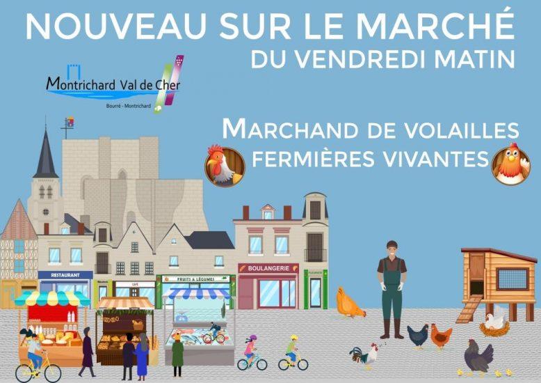 Volailler du marché de Montrichard