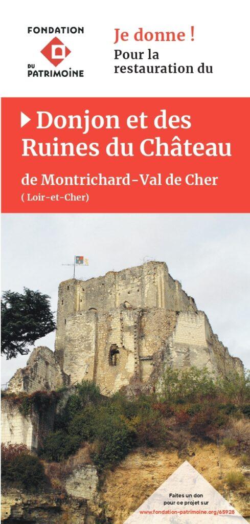 Flyer pour faire un don pour le donjon de Montrichard