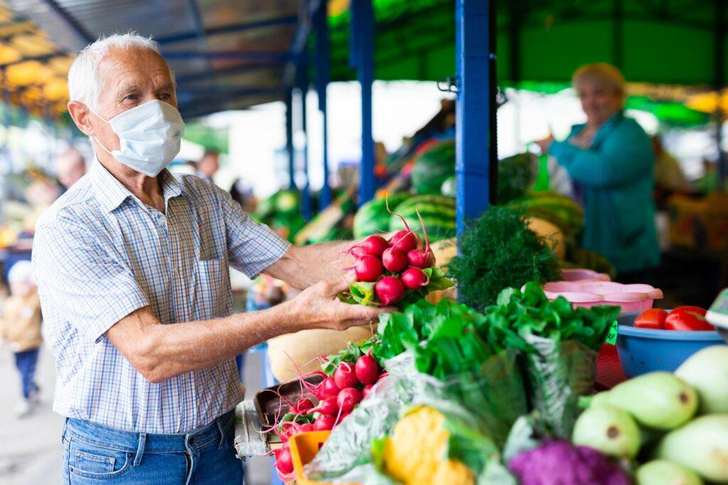 Le marché en période de covid